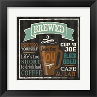Brew Chalk 2 Framed Print