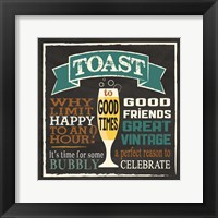 Toast Chalk 1 Framed Print