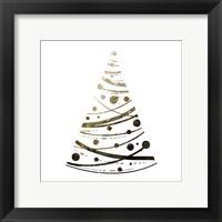 Glimmer Trees 3 Framed Print