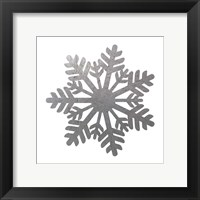 Silver Snowflakes 1 Framed Print