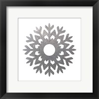 Silver Snowflakes 3 Framed Print