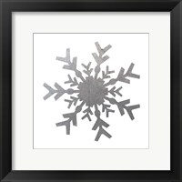 Silver Snowflakes 4 Framed Print