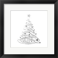 Silver Trees 4 Framed Print