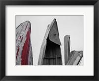 Framed Crimson Boat