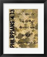 Framed Philippians Strength