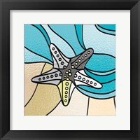 Smoke Starfish Stained Glass Framed Print