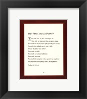 Framed Ten Commandments - red frame