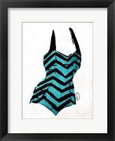 Vintage Swimsuit Four Framed Print