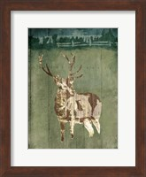Framed Deer In The Field