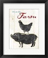 Life On The Farm Framed Print