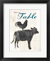 Farm To Table Framed Print