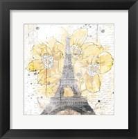 Framed Eiffel Bloom Yellow