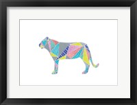 Colorpoly Lia Framed Print