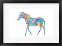 Colorpoly Horsia Framed Print
