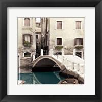 Framed Teal Venice