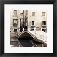 Framed Teal Venice II
