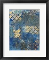 Framed Ornate Azul D2