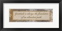 Gratitude Path Framed Print