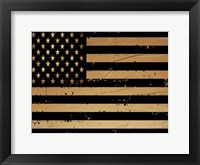 Framed Gold And Black America