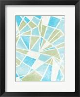 Contemporary Geometric Sails Framed Print