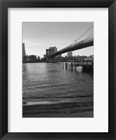 Magical Evening @ Brooklyn Brdg Framed Print