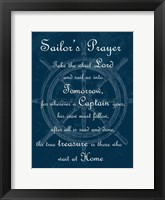 Framed Sailor's Prayer 1