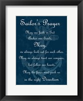 Framed Sailor's Prayer 2