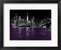 Framed New York City Purple Rain
