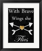 Brave Wings Framed Print