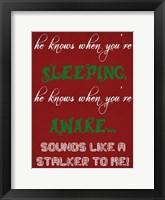 The True Santa Framed Print