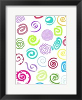 Birthday Patterns Framed Print