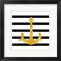 Golden Anchor Framed Print