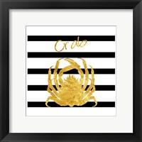 Golden Crab Framed Print