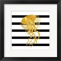 Golden Jelly Fish Framed Print