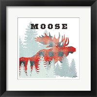 Moose Plaid Framed Print
