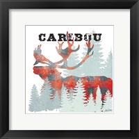 Framed Plaid Caribou