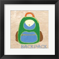 Backpack Framed Print