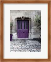 Framed Purple Door 4