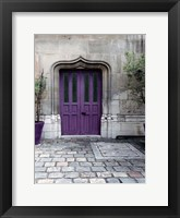 Framed Purple Door 4