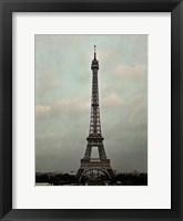 Framed Eiffel Sepia