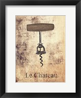 Framed Le Chateau Wine 1