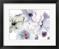 Flowering Blue Hues 2 Framed Print