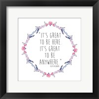 Floral Its Great Framed Print