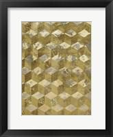 Framed Golden Cubism