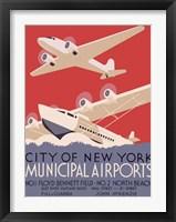 Framed New York City municipal airports, 1937
