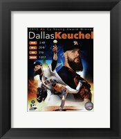 Framed Dallas Keuchel 2015 American League Cy Young Winner Portrait Plus