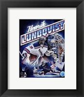 Framed Henrik Lundqvist 2015 Portrait Plus