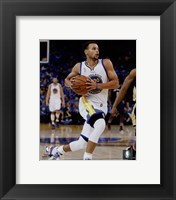 Framed Stephen Curry 2015-16 Action