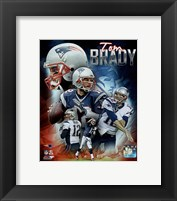 Framed Tom Brady 2015 Portrait Plus