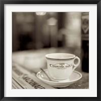 Framed Tuscany Caffe II
